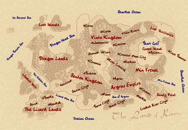 World Map With Names